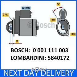 24V Original Genuine Bosch Starter Motor LOMBARDINI KOHLER LDW 702/602/903/1204