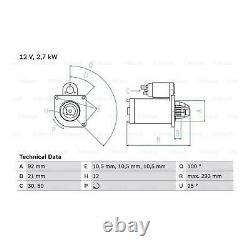 £45 Cashback BOSCH Starter Motor 0 986 010 950 Genuine Top German Quality