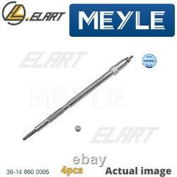 4x Glow Plug For Nissan Opel Renault Patrol Gr V Wagon Y61 Zd30ddti Zd30 Meyle