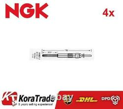 4x NGK 2691 DIESEL HEATER GLOW PLUG