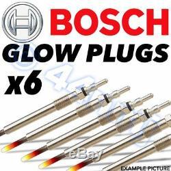 6x BOSCH Diesel D Heater Glow Plugs AUDI Q7 3.0 V6 TDI 05
