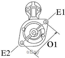 AUDI VOLKSWAGEN VW Phaeton ANLASSER STARTER 059911024 0001109258 059911023 NEU