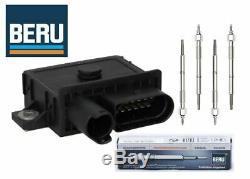 BMW E87 E60 E90 X3 120d 318d 520d 4 Cylinder Glow Plug Control Unit & Plug Kit