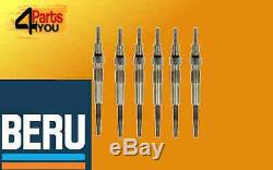 Beru 6x Glow Plug Bmw 5 Series E60 E61 2,5 3,0 D 525 530