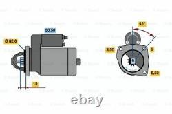 Bosch Remanufactured Starter Motor 0986015630 1563 GENUINE 5 YEAR WARRANTY