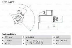 GENUINE OE BOSCH 0986025960 / 2596 12 V Starter Motor