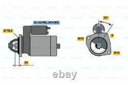 Genuine Bosch Starter Motor for BMW 323i E46 Sedan E46 2.5L 1998 2000