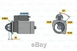 Genuine Bosch Starter Motor for Bobcat Loader 980 3.9L Diesel 4BT 1989 ON
