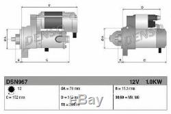 MERCEDES E220 W212 2.1D Starter Motor 2009 on OM651.924 Denso 0009060126 Quality