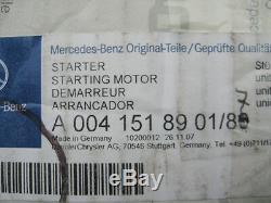 New Genuine Mercedes C Class E Class Sprinter Viano Starter Motor A0041518901/80
