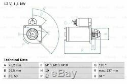 Starter Motor 0986017060 Bosch R96FB11000CC R96FB11000KC R96FB11000KD Quality