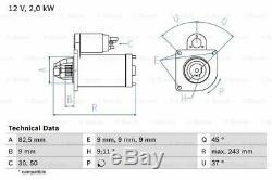 Starter Motor 0986017790 Bosch 46473784 46478945 551952110 60814911 Quality