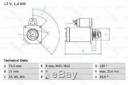 Starter Motor BMWE46, E39, E60, E85, E83, E65 E66 E67, E61,3,5, Z4, X3,7 12417578684
