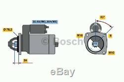 Starter Motor fits BMW 320D E46 2.0D 98 to 01 Bosch 12412247063 12412249295