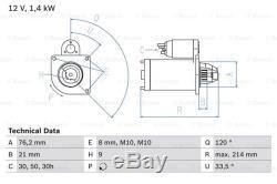 Starter Motor fits BMW 325 E46 2.5 02 to 07 Bosch 12411354823 12411438696