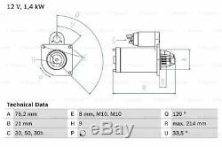 Starter Motor fits BMW Z4 E85 3.0 03 to 05 Bosch 12411354823 12411438696 Quality