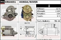 Starter Motor fits HONDA JAZZ AA 1.2 83 to 86 Remy Genuine Quality Replacement