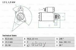 Starter Motor fits MERCEDES 420 R107, W126 4.1 LHD Only 85 to 87 Genuine Bosch