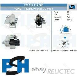 Starter Motor for Peugeot Citroen ToyotaPARTNER, BERLINGO, EXPERT, JUMPY, 207,307