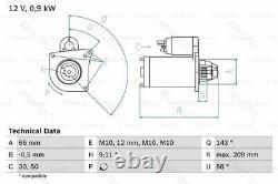 Starter Motor for Renault Opel Vauxhall NissanLAGUNA II 2, MEGANE II 2, VIVARO