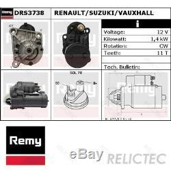 Starter Motor for Renault Suzuki VauxhallMEGANE I 1, KANGOO, Clio II 2