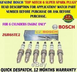 X6 Fits Bmw 1 3 5 7 Series X6 Z4 Bosch Super Spark Plug Zgr6ste2 / 0242140507