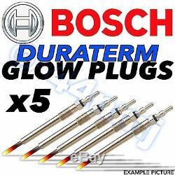 5x Bosch Bougies De Préchauffage De Chauffage D Diesel Duraterm Diesel Volvo 2.4 D5 D5 Turbo