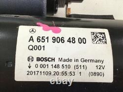 A6519064800 Anlasser Mercedes-benz C-klasse T-modell (s205) C 250 Bluetec 150
