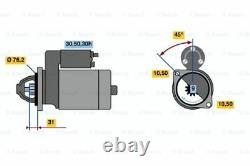 Bosch Remanufactured Starter Motor 0986014890 1489 Garantie Authentique De 5 Ans