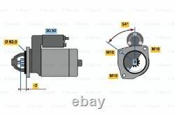 Bosch Remanufactured Starter Motor 0986016530 1653 Garantie Authentique De 5 Ans