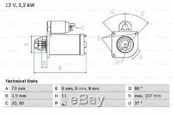 Démarreur 0986027000 Bosch 51810267 51984359 Véritable Remplacement De Qualité Supérieure