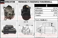 Démarreur Pour Renault Suzuki Vauxhallmegane I 1, Kangoo, Clio II 2