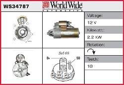 Démarreur (sans Supplément) Ws34787 Wwa Genuine Top Quality Replacement New