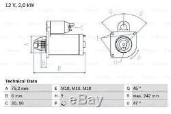 Ford S-max 1.8d Démarreur 06 À 10 Bosch 1253808 1387092 1480550 1564725