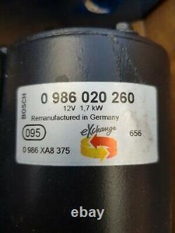 Genuine Bosch Starter Motor 0986020260 Fit Audi A1 A3 Q3 Tt Seat Skoda Vw Diesel