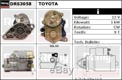 Le Démarreur Convient Au Remplacement De Qualité Véritable Toyota Mr2 Aw11 1.6 84 À 90 Remy