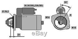 Le Démarreur D'origine De Bosch S'adapte Aux Bmw 528i E39 2.8l Essence 1996 2000