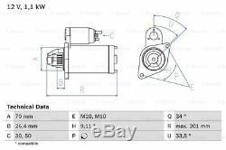 Mercedes C250 W204 1.8 Démarreur 09 À 14 M271.860 Bosch A0051513901 Qualité