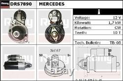 Mercedes Démarreur Remy 1121510001 A1121510001 - Véritable Qualité De Remplacement