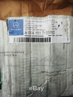 Mercedes-benz 0041517101/80 Véritable Démarreur Bosch W124 W310 W463 W140