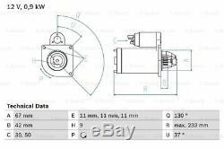 Mg Mgzr 105 1.4 Moteur De Démarreur 01-05 14k4f Bosch Véritable Remplacement De La Qualité