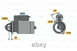 Moteur De Démarrage Bosch Refabriqué 0986010850 1085 Genuine 5 Ans Garantie