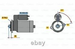 Tout Nouveau Bosch Authentique 0001123016 Démarreur 0 001 123 016