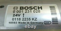 Véritable Bosch 0001231028 Démarreur 24v 9 Dents Fabriqué En Allemagne