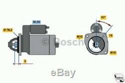 Véritable Bosch Reman Demarreur 0986016660