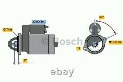 Véritable Bosch Reman Starter Motor 0986021530
