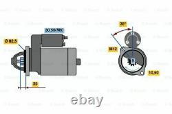 Véritable Bosch Starter Motor Pour Saab 9000 2.3l Essence B234 01/91 12/98
